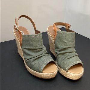 Cute Army Green Wedges